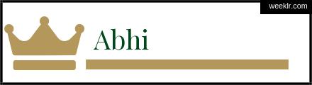 Royals Crown -Abhi- Name Logo Photo