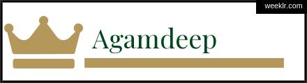 Royals Crown Agamdeep Name Logo Photo