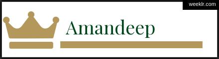 Royals Crown -Amandeep- Name Logo Photo