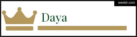 Royals Crown -Daya- Name Logo Photo