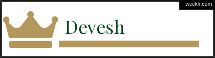 Royals Crown -Devesh- Name Logo Photo