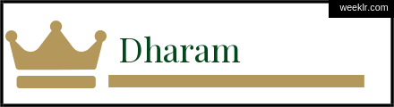 Royals Crown -Dharam- Name Logo Photo
