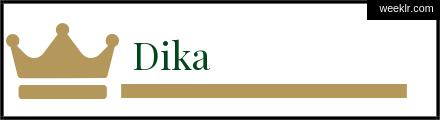 Royals Crown -Dika- Name Logo Photo