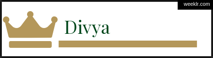 Royals Crown -Divya- Name Logo Photo