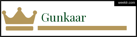 Royals Crown Gunkaar Name Logo Photo