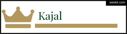 Royals Crown -Kajal- Name Logo Photo