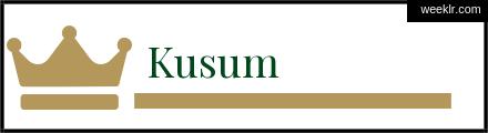 Royals Crown -Kusum- Name Logo Photo