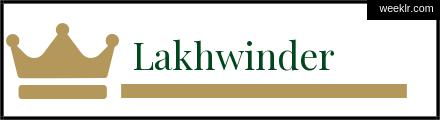 Royals Crown -Lakhwinder- Name Logo Photo
