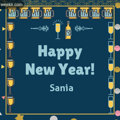 -Sania- Name On Happy New Year Images
