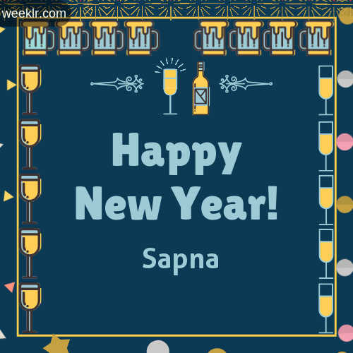 -Sapna- Name On Happy New Year Images