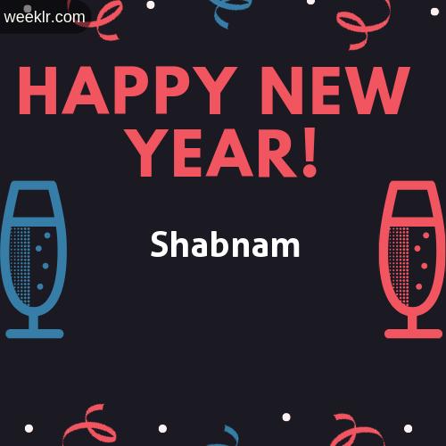 -Shabnam- Name on Happy New Year Image