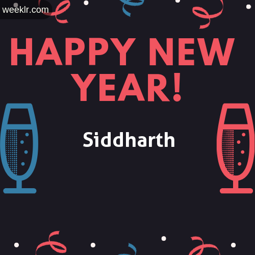 -Siddharth- Name on Happy New Year Image