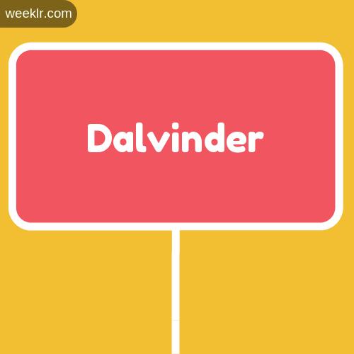 Sign Board -Dalvinder- Logo Image