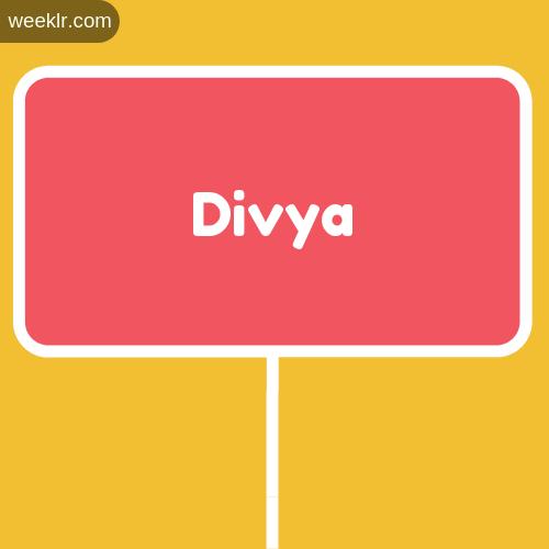 Sign Board -Divya- Logo Image