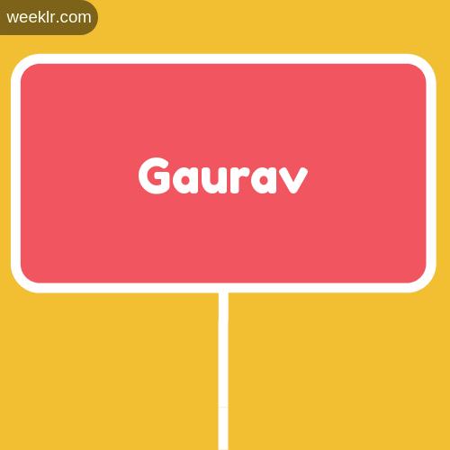 Sign Board -Gaurav- Logo Image