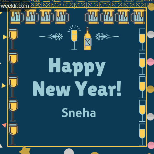 -Sneha- Name On Happy New Year Images