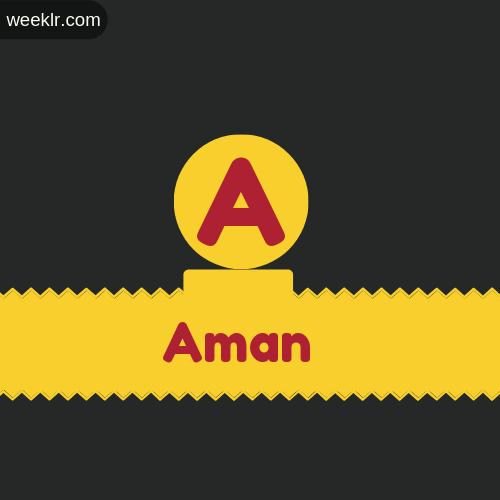 Stylish -Aman- Logo Images
