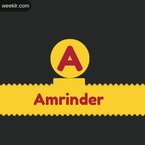 Stylish -Amrinder- Logo Images