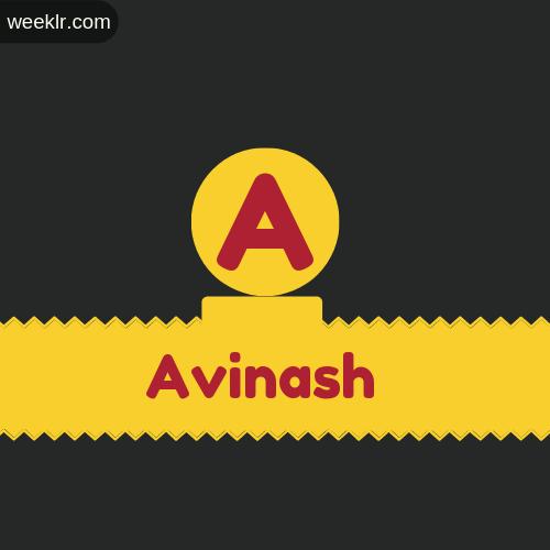 Stylish Avinash Logo Images