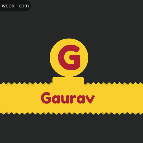Stylish -Gaurav- Logo Images
