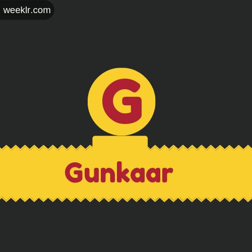 Stylish -Gunkaar- Logo Images