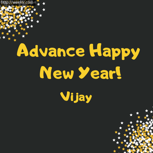 -Vijay- Advance Happy New Year to You Greeting Image