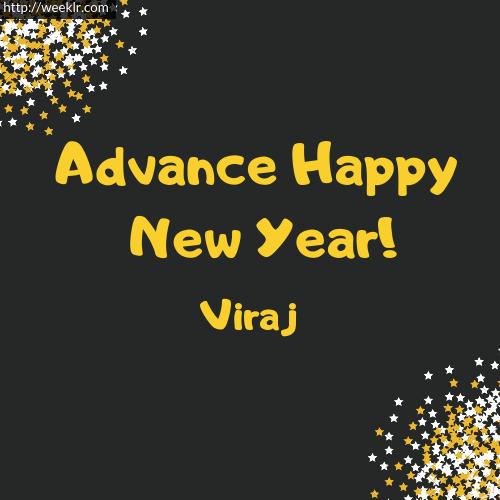 -Viraj- Advance Happy New Year to You Greeting Image