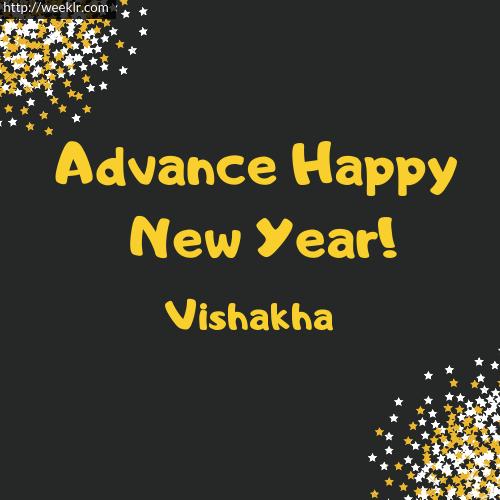 -Vishakha- Advance Happy New Year to You Greeting Image