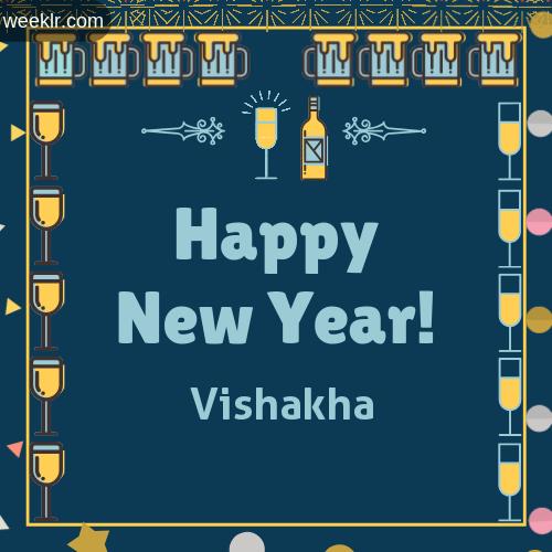 -Vishakha- Name On Happy New Year Images