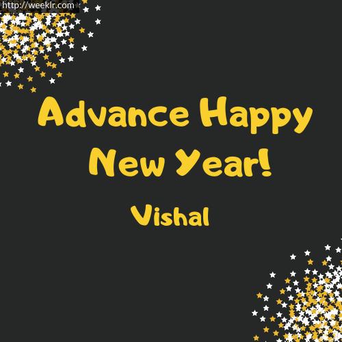 -Vishal- Advance Happy New Year to You Greeting Image
