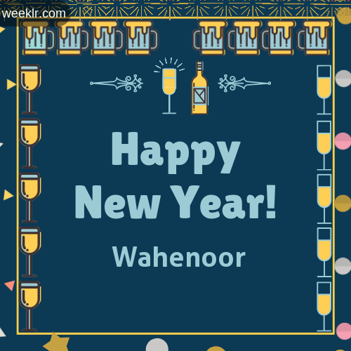 -Wahenoor- Name On Happy New Year Images