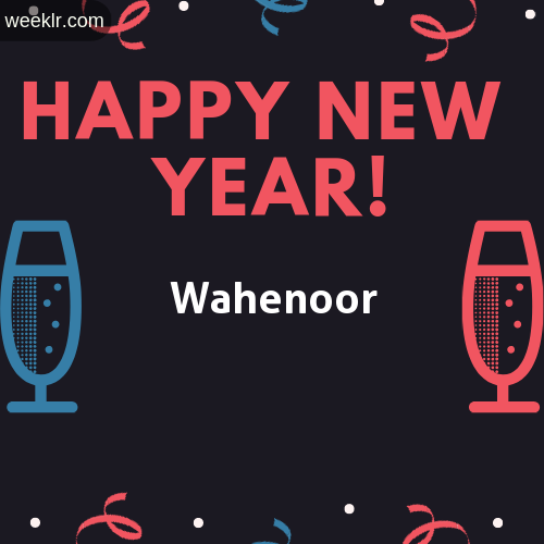 -Wahenoor- Name on Happy New Year Image