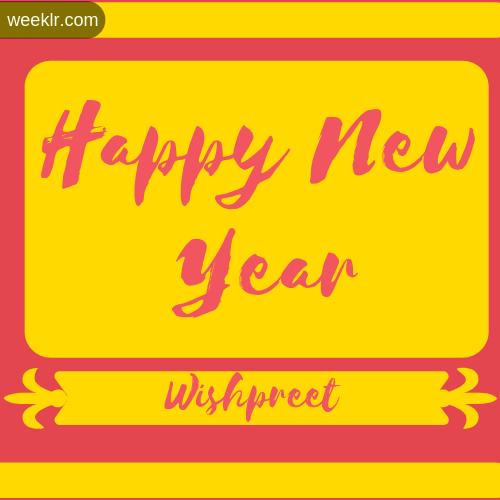 -Wishpreet- Name New Year Wallpaper Photo