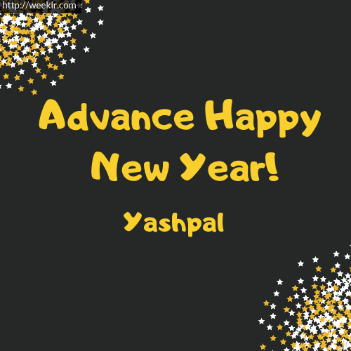 -Yashpal- Advance Happy New Year to You Greeting Image