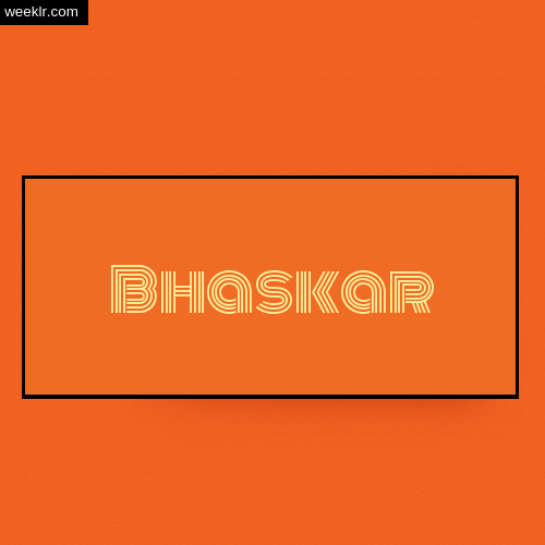 Bhaskar Name Logo Photo - Orange Background Name Logo DP