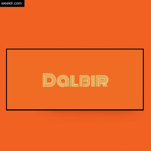 Dalbir Name Logo Photo - Orange Background Name Logo DP