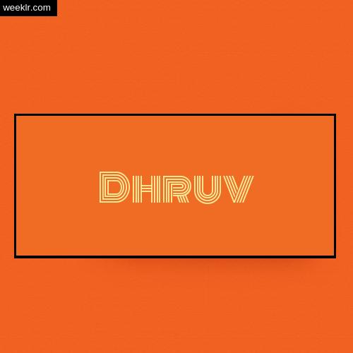 Dhruv Name Logo Photo - Orange Background Name Logo DP