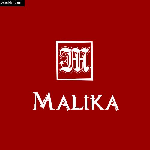 Malika Name Logo Photo Download Wallpaper