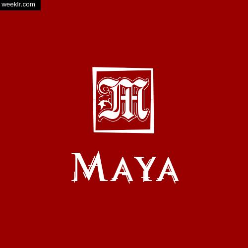 -Maya- Name Logo Photo Download Wallpaper