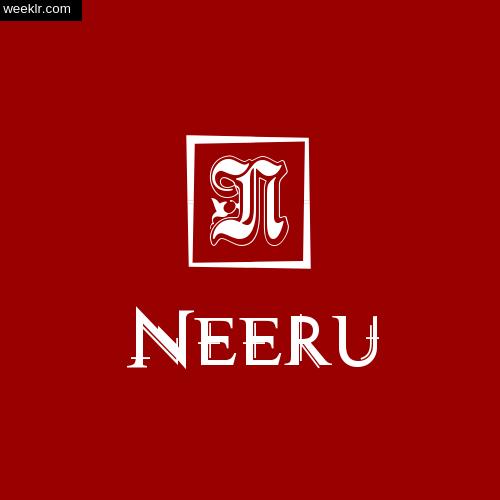 -Neeru- Name Logo Photo Download Wallpaper