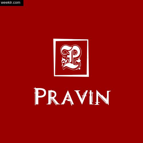 -Pravin- Name Logo Photo Download Wallpaper