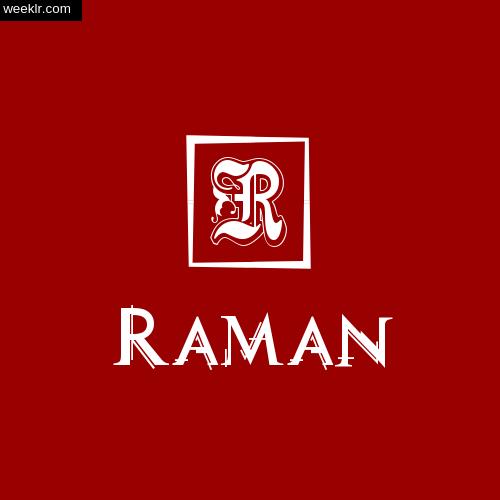 -Raman- Name Logo Photo Download Wallpaper