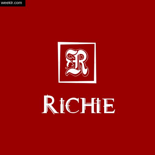 -Richie- Name Logo Photo Download Wallpaper