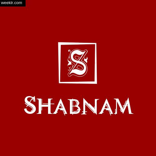 Shabnam Name Logo Photo Download Wallpaper