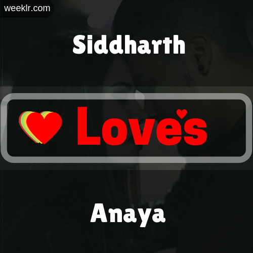 -Siddharth- Love's-Anaya- Love Image Photo