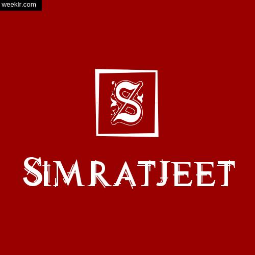 -Simratjeet- Name Logo Photo Download Wallpaper