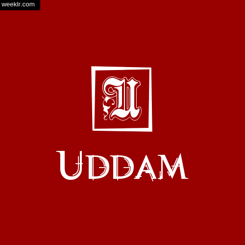 -Uddam- Name Logo Photo Download Wallpaper