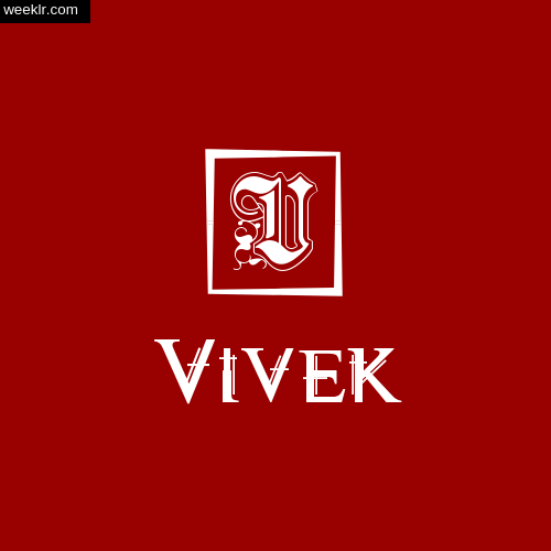 -Vivek- Name Logo Photo Download Wallpaper
