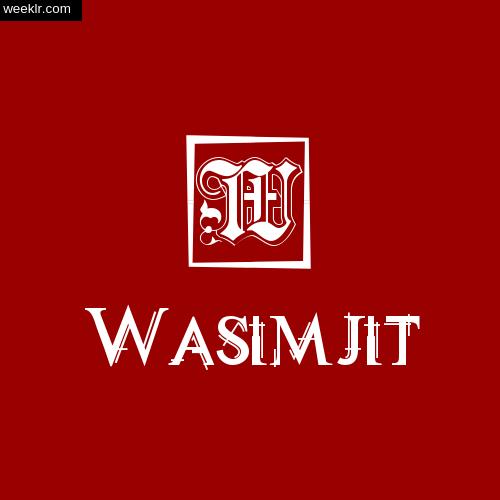 -Wasimjit- Name Logo Photo Download Wallpaper