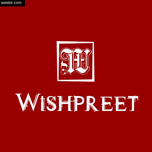 -Wishpreet- Name Logo Photo Download Wallpaper